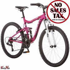 "Mongoose 24"" Ledge 2.1 Mountain Bike Girls Pink Aluminium Womens Bicycle"
