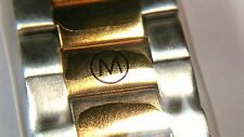 81.09.811 V73 Movado Men's 17mm Two-Toned Bracelet / Band, NOS