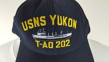 USNS Yukon T-AO 202 Fleet Replenishment Oiler USN Ship Military Snapback Hat Cap