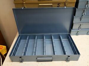 Vintage Metal Blue 35mm Slides Photo Storage Container