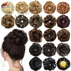 Large Curly Messy Rose Bun Hair Piece Thick Updo Scrunchie Natural As Human Hair