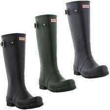 Hunter Wellies Original Tall Womens Black Green Wellington Boots Size UK4-8