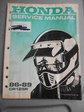 Honda Factory Service Repair Shop Manual 86-89 CR125R CR125 R