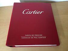 Used Price List of Leather Straps CARTIER Tarifa de precios Correas de Piel 2005