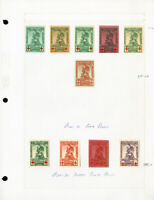 Belgium B25-32 All Color Proof Stamps