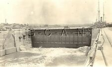 WWI Era- 1904-1918 AZO RPPC- US Navy Mare Island Dry Dock Vallejo CA- Dated 1914