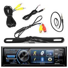 JVC KDAV41BT Bluetooth USB DVD CD Single Din Radio, Black Back Up Camera,Antenna