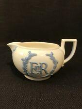 Wedgwood Embossed Queens Ware Elizabeth II Coronation Milk Jug Creamer 1953