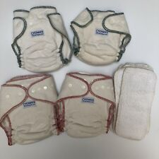 Lot Of 4 all-in-one one size cloth diapers Cotton Small Medium Large Size