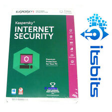 KASPERSKY INTERNET SECURITY 2017 for 3x PC for 2x YEARS via ESD suit  WIN 10 8 7