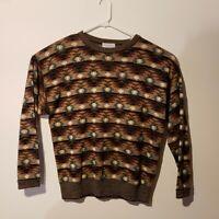 Vintage Men's Tricots St Raphael Sweater L Brown Orange Abstract