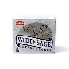 Hem White Sage - Incense Doop Cones X 1 Packet of 10 Cones