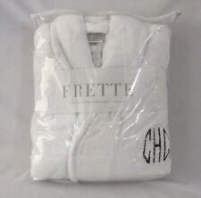 FRETTE 100% Cotton, Turkish Terry, Shawl Collar, White Unisex Robe. L/XL. NEW