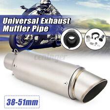 38mm 51mm Universal Motorcycle Exhaust Muffler Tail Pipe Slip Kit Silencer Steel
