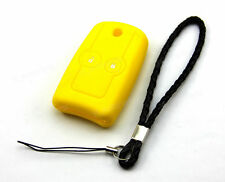 Yellow Silicone Case Cover For Honda Civic HRV CR-V Jazz Accord Remote Flip Key