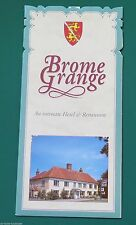 Brome Grange Hotel & Restaurant, Eye, Suffolk. 1993 Promotional Leaflet.