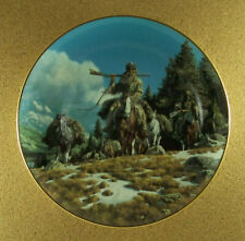 The West Of Frank McCarthy Bringing Out The Furs Plate Trappers Hamilton Rare