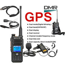 New Retevis RT82 GPS UHF+VHF DMR 2200mAh 3000CH 2-Way Radio+RT82's Accs as