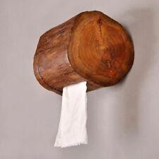 Household Tissue Box Wooden Toilet Napkin Storage Bathroom Paper Roll Dispenser