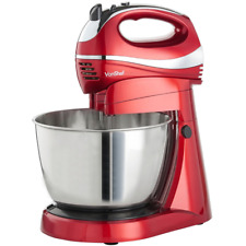 Vonshef Stand Mixer Hand Held Food Blender 3.5 Litre Processor Machine 300W Red
