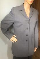 Dorothy Perkins Womens Long Wool Rich Blazer Jacket UK Size 12 Grey Gt Cond