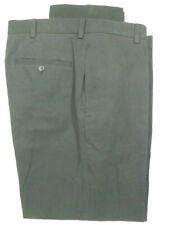 Brooks Brothers 346 Advantage Chino Clark Black Flat Front Cotton Pants 36x31.5