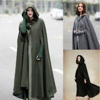 Women Trench Coat Open Front Cardigan Jacket Coat Cape Cloak Poncho Plus