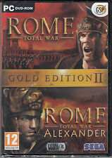 Rome Total War Gold Edition II 2 with Alexander Expansion Pack Brand New Sealed
