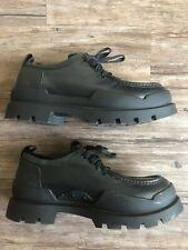 G-Star Originals Raw Demin Black Leather Platform Shoes Boots Size 9 Vintage