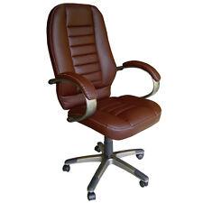 Poltrona operativa studio o ufficio in ecopelle nera o marrone ( mod. NISIDA )