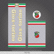 01617 Gios Torino Bicycle Frame Stickers - Decals - Transfers - Silver