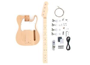 DIY Electric Bass Guitar Kit - TL Bass Advanced Guitar Kit
