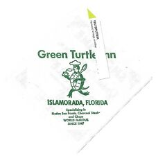Green Turtle Inn bar Cocktail Napkin Islamorada Florida Vintage Graphics Magic t