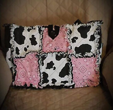 Pink Black Cowboys Hanky Country Rag Quilt DiaperBag Bag Tote Purse Handcrafted