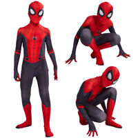 Kids Spider Man Far From Home Peter Zentai Bodysuit Holiday Boys Tights Costume