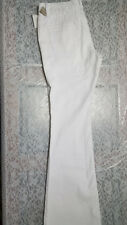NWPT YMI Dressy Women's White 4 Pocket Riveted Low Rise Flared Pants Size 6x28