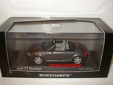 MINICHAMPS 430017235 AUDI TT ROADSTER 1999 GREY METALLIC au 1/43°