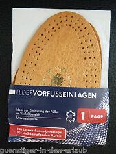 Leder Vorfusseinlagen Schuheinlagen Einlegesohlen Halbsohlen Damen Herren Schuhe