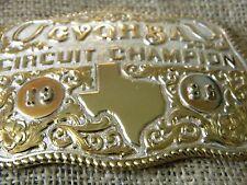 CIRCUIT CHAMPION BELT BUCKLE 1886 TEXAS QUARTER HORSES G.V.Q.H.B.A.