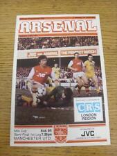 15/02/1983 Football League Cup Semi-Final: Arsenal v Manchester United  (Slight