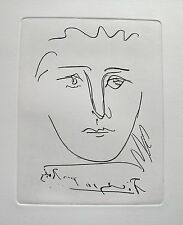 Pablo Picasso POUR ROBY Etching Signed in the Plate, Comes with Certiticate
