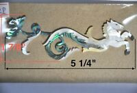Pegasus Headstock inlay in White, Gold Mother of Pearl & Paua Abalone #PH72