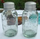Unique Collectible Mason's Pat Fruit Jar Salt & Pepper Shakers Vintage Replicas