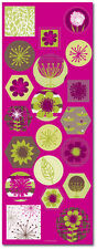 20 Organic Citrus Colorful Stickers Wedding Invitation Seals