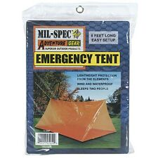Emergency Shelter Tent Sleeps 2 Heavyweight  Wind & Waterproof 8' Survival Kit