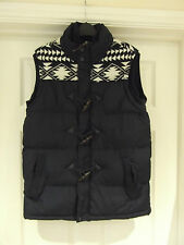 Body Warmer by Brave Soul in Men's Small - Navy Blue Padded Winter Duffle