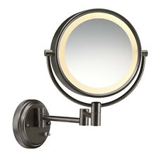 Conair BE6BXBR Round Shaped 1x/8x Magnification Wall Mount Lighted Makeup Mirror