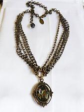 Tommassini Italy Couture Crystal Glass Rhinestone Pendant Multi chain Necklace