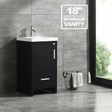 "18"" Bathroom Vanity Single Cabinet Undermount Sink Counter Top Drain&Drawer"