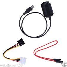 Sata / pata / ide drive to usb 2.0 câble adaptateur convertisseur pour 2.5 / 3.5 disque dur UK